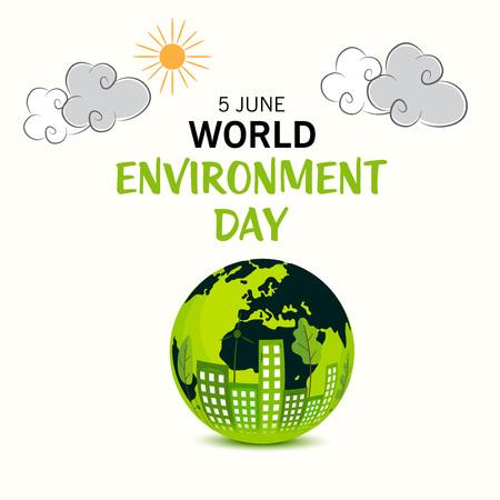 World Environment Day. Stock Illustratie