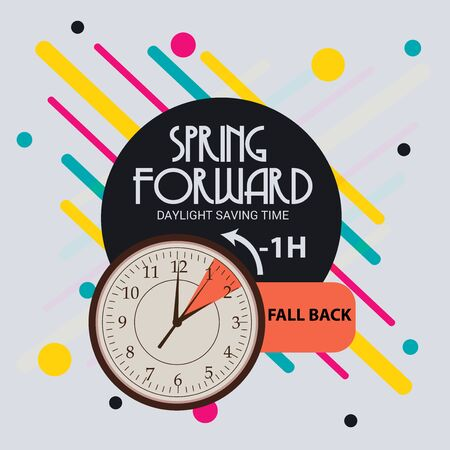 Daylight Saving Time Summer Fall Back and Spring Forward.