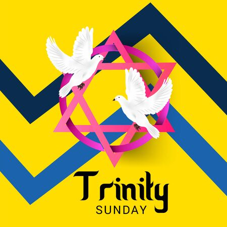 Vector illustration of a Background for Trinity Sunday.Vector illustration of a Background for Trinity Sunday.
