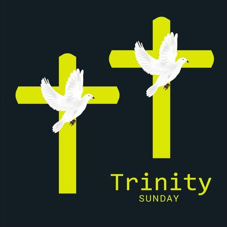 Vector illustration of a Background for Trinity Sunday. Ilustracja