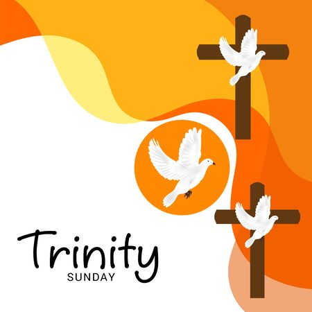 Vector illustration of a Background for Trinity Sunday. Stock Illustratie
