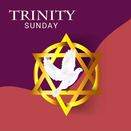 Vector illustration of a Background for Trinity Sunday. Vector Illustratie