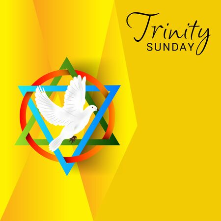 Vector illustration of a Background for Trinity Sunday. Ilustracja