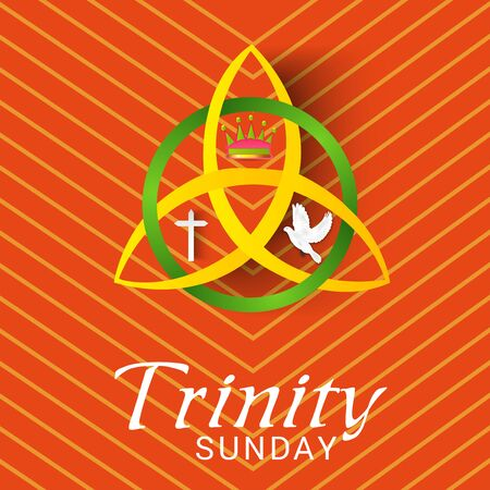 Vector illustration of a Background for Trinity Sunday. Illustration
