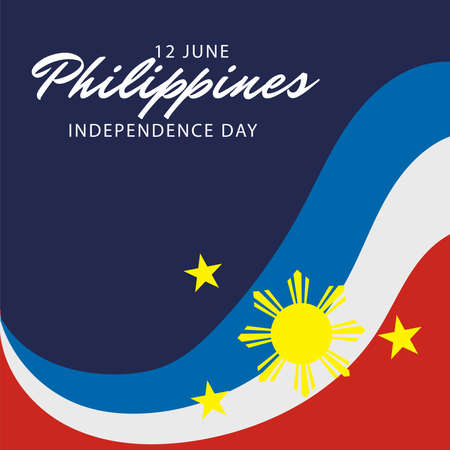 Vector illustration of a Background for Philippines Independence Day.