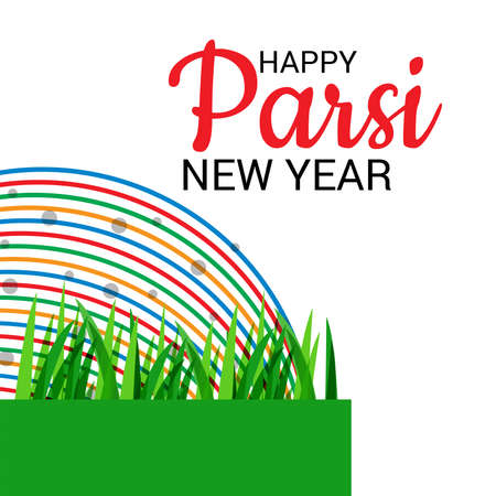 Vector illustration of a Background for Parsi New Year.