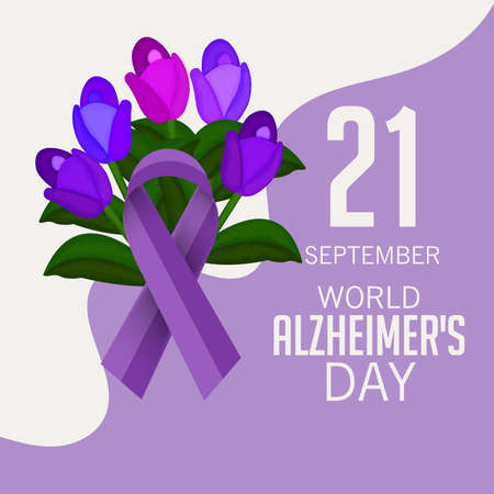 Vector illustration of a Banner for World Alzheimer's Day.