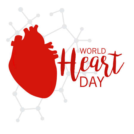 Vector illustration of World Heart Day Background.