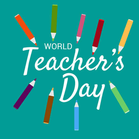 Vector illustration of a Background for World Teacher's Day.