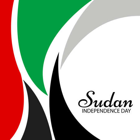 Vector illustration of a Background for Sudan Independence Day.