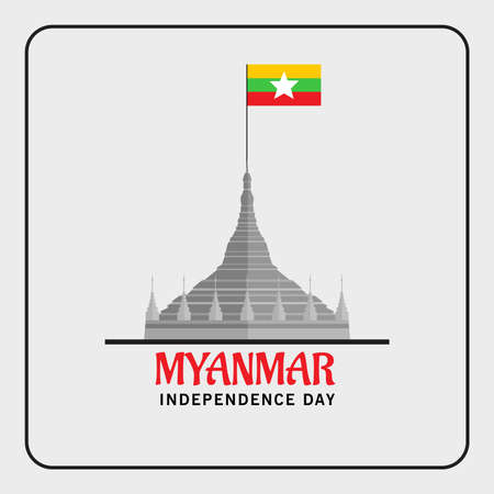 Vector illustration of a Background for Happy Myanmar Independence Day. 版權商用圖片 - 161383504