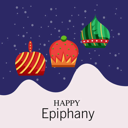 Vector illustration of a Background for Happy Epiphany (Epiphany is a Christian festival). 版權商用圖片 - 161488512