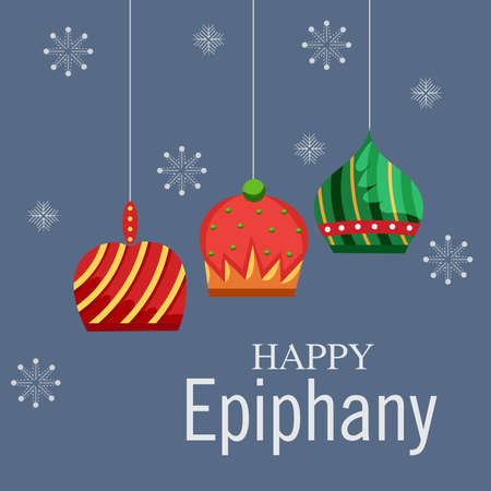 Vector illustration of a Background for Happy Epiphany (Epiphany is a Christian festival). Standard-Bild - 161488513