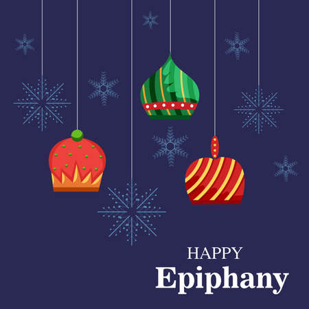 Vector illustration of a Background for Happy Epiphany (Epiphany is a Christian festival).
