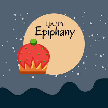 Vector illustration of a Background for Happy Epiphany (Epiphany is a Christian festival). 版權商用圖片 - 161488520