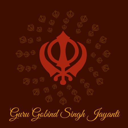Vector illustration of a Background for Happy Guru Gobind Singh Jayanti festival for Sikh Celebration.