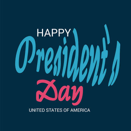 Vector illustration of a background for Happy Presidents Day. 向量圖像