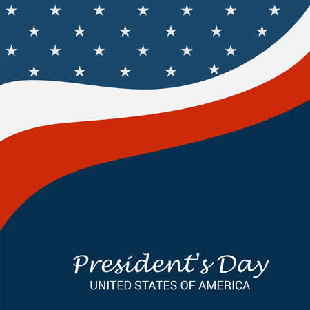 Vector illustration of a background for Happy Presidents Day. Illustration