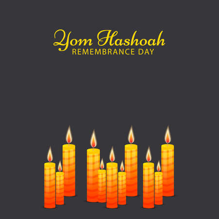Vector illustration of a background for International Holocaust Remembrance Day.(Yom Hashoah).