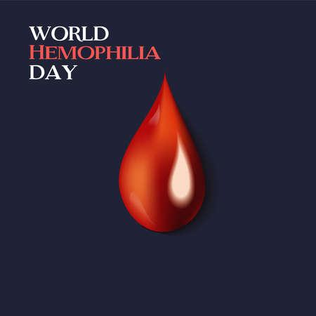 Vector illustration of a Background for World Hemophilia Day. Ilustração
