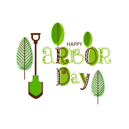 Vector illustration of a Background for Arbor Day.