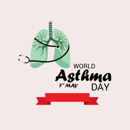 Vector illustration of a Background for World Asthma Day.