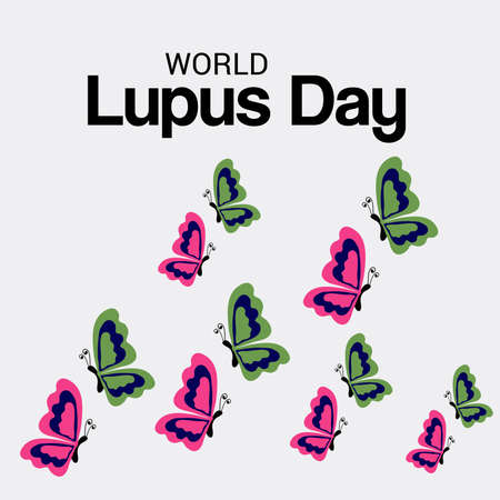 Vector illustration of a Background for World Lupus Day.