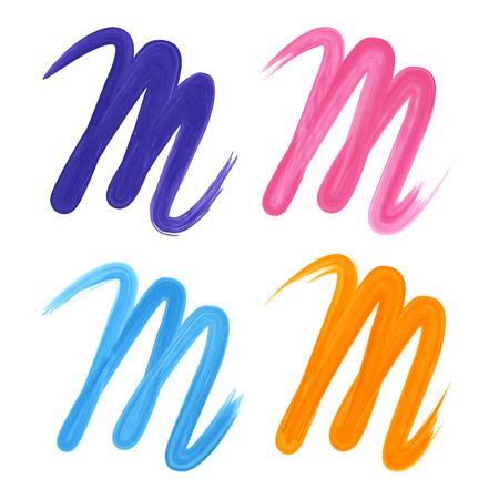 m: Letters M branding corporate icon isolated on white background. Vector illustration