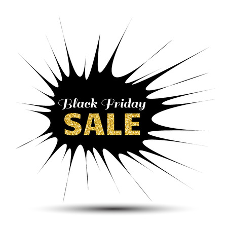 pointy: Black Friday Sale pointy Banner with gold text