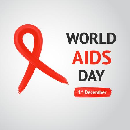 relaciones sexuales: Concepto D�a Mundial del Sida con la cinta roja de la conciencia del SIDA. 01 de diciembre