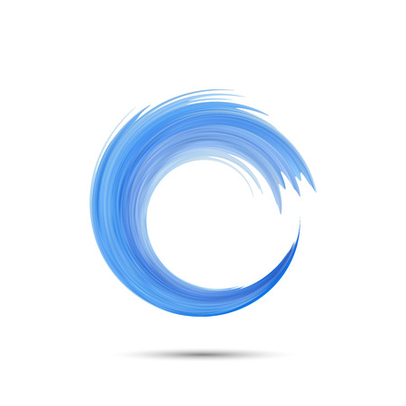 curl whirlpool: Water wave  in the circle vector design logo template.