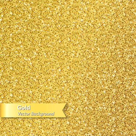Gold glitter texture of gold spangle. Vector illustration