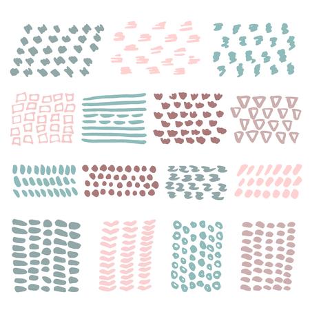 symbol hand: Hand gezeichnete Texturen mit Tinte auf wei�em isoliert gemacht. Pastellfarben.