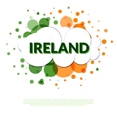ireland flag: Abstract in Ireland flag colors. Welcome Ireland.