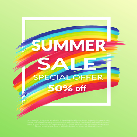 soft sell: Summer Sale Special offer 50 percent  with white frame