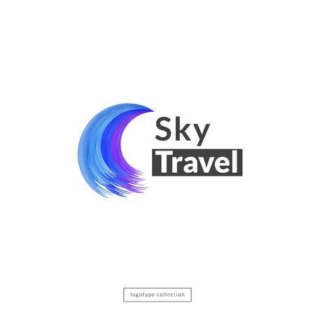 aeronautics: Sky travel design template. Vector illustration. Illustration