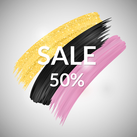 moderm: Sale Banner. Trendy design elements for sales promotion.