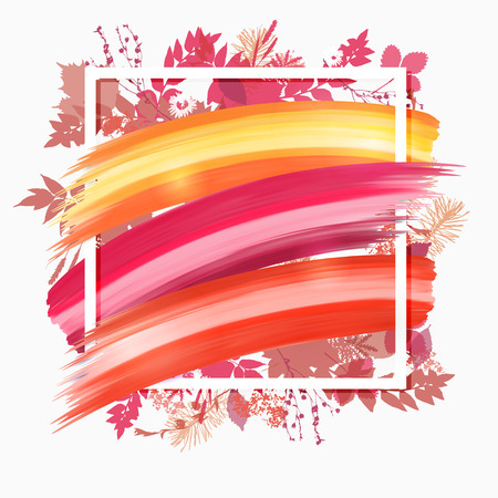 Colorful banner with brush strokes