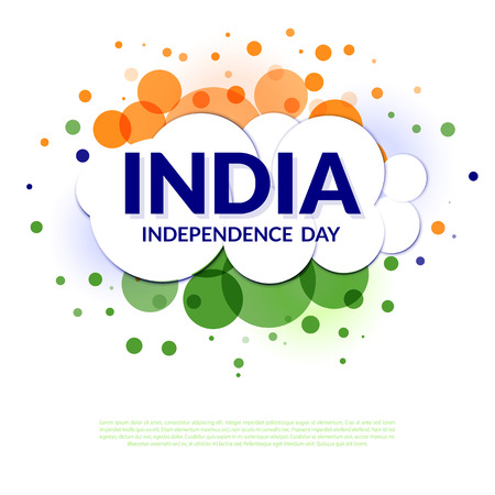 ashok: Indian independence day. Background in India flag colors.