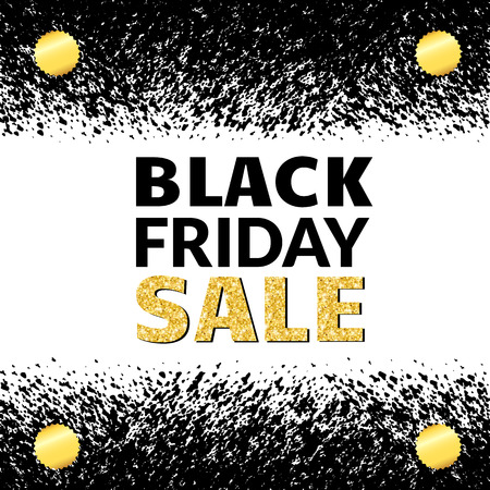 Black Friday Sale Banner with gold text