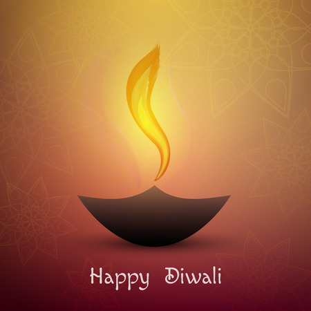 Happy diwali . Beautiful greeting card for festival Diwali. Çizim