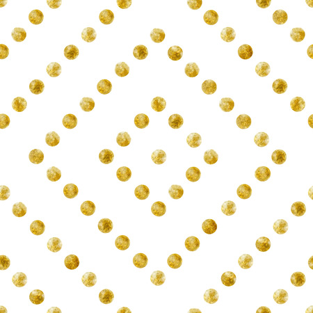 Geometric Seamless pattern of golden sequins Çizim