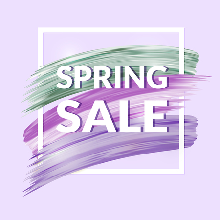 cheaper: Sale Banner in lilac colors Illustration