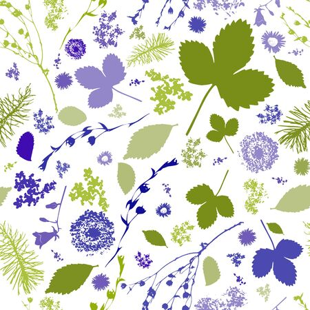 Abstract Seamless pattern with floral elements Фото со стока - 77648992