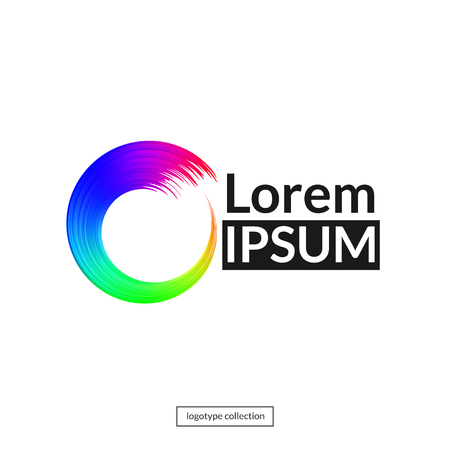 Rainbow circle logo template. Фото со стока - 77839506