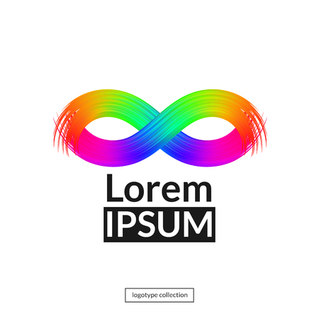 Rainbow mask logo template. Çizim