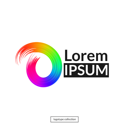 Abstract Rainbow logo template. Çizim