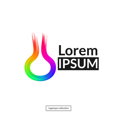 Rainbow abstract logo template.