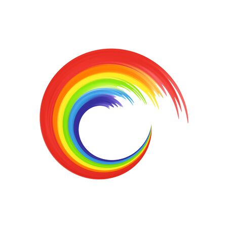Rainbows in abstract shape for your design, banners isoladed on white background. Rainbow icon.