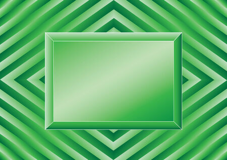 green crystal ( emerald plate squares backgrounds board ) Vector